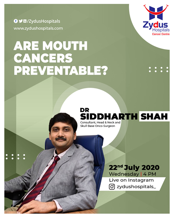 Oral cancer is the cancer of the oral cavity - i.e mouth or throat. Watch Dr. Siddharth Shah as he explains ways to keep such cancers at bay  #cancer #oralcancer #cancertreatment #zydushospitals #zyduscancercentre