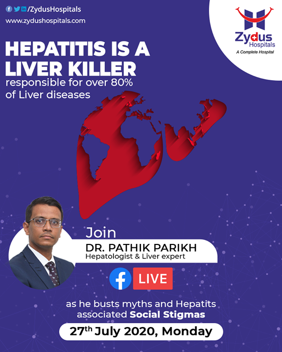 #Liverdiseases - Any condition that damages the liver and prevents it from functioning well is categorised as a liver disease.   Among various such conditions, Hepatitis takes the larger share of damage. Let's watch Dr. Pathik Parikh as he highlights the Social Stigmas associated with this.  #Hepatitis #LiverCare #JoinUs #Facebooklive #ZydusHospitals #Ahmedabad #SmileofGoodHealth