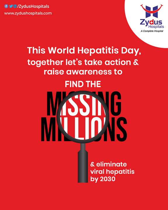 Let's overcome the barriers of diagnosing #Hepatitis and raise awareness towards finding the Missing #Millions. On World Hepatitis Day, let's take a pledge to eliminate Viral Hepatitis by 2030 and together we can take action towards achieving this goal.  #WorldHepatitisDay #HepatitisDay #HepatitisDay2020 #Hepatitis #LiverCare #ViralHepatitis  #ZydusHospitals #Ahmedabad #SmileofGoodHealth