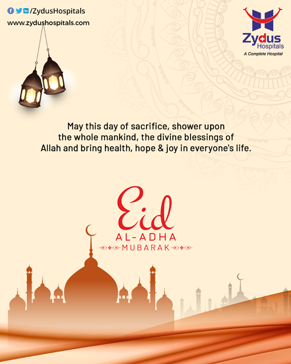 On this auspicious occasion of Eid Al-Adha, Zydus Hospitals wishes everyone happiness, prosperity, and good health.  #EidMubarak #EidAlAdha #EidAdhaMubarak #EidAlAdha2020 #BlessedEid #HappyEid #ZydusHospitals #Ahmedabad #SmileofGoodHealth