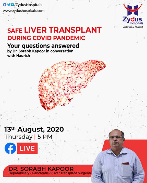 #LiverTransplant is a complex and life-saving surgery, Zydus Hospitals conducted several successful liver transplants during the pandemic period.  Here is Dr. Sorabh Kapoor in conversation with Naurish, touching upon the finer points which make the difference.  #LiverCare #LiverHealth #Healthway #HealthyLiver #HealthyLiverFunction #FBLive #ZydusHospitalsCares #ZydusHospitals #Ahmedabad #SmileofGoodHealth