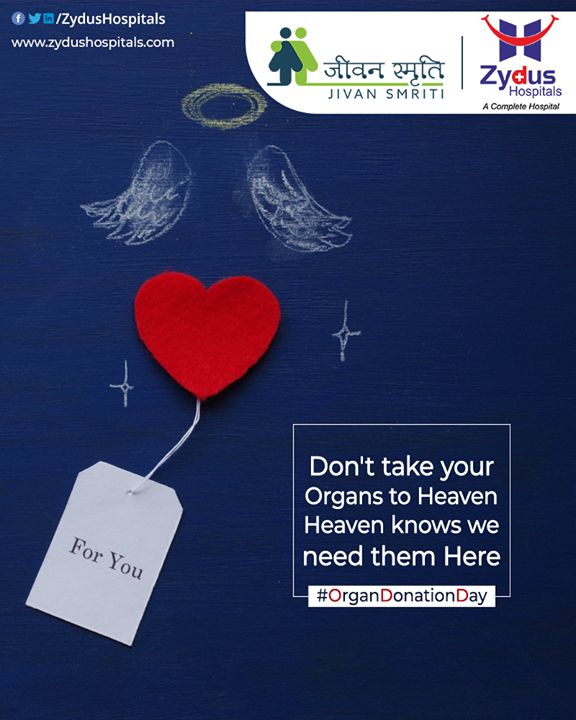You don't just have to be a Doctor to save lives! You can save lives by donating your Organs.  Be a Donor, Be a Hero.  #OrganDonationDay #DonateOrgans #OrganDonation #SaveLives #ZydusHospitalsCares #ZydusHospitals #Ahmedabad #SmileofGoodHealth
