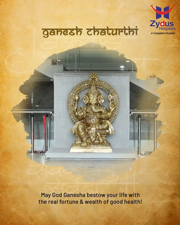 May God Ganesha bestow your life with the real fortune & wealth of good health!  #HappyGaneshChaturthi #GaneshChaturthi2020 #GanpatiBappaMorya #Ganesha #GaneshChaturthi #IndianFestival  #ZydusHospitals #Ahmedabad #GoodHealth #smileofgoodhealth