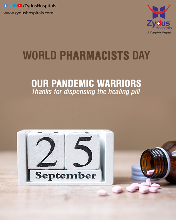 Cannot imagine patients without doctors and medicines without a pharmacist. Thank you for providing us safe and efficient medicines. Pharmacists are the real pandemic warriors.  #WorldPharmacistsDay #PharmacistsDay #WorldPharmacistsDay2020 #PandemicWarriors #ZydusHospitals #BestHospitalinIndia #Ahmedabad #SmileofGoodHealth