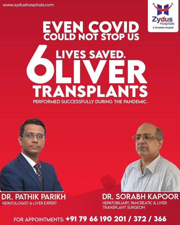 At #ZydusHospitals, we follow the requisite guidelines to deal with #liver transplantation during the times of #COVID 19 pandemic. COVID fears could not stop our efforts to save lives.  Even as life threw challenges at us - we took them head on and saved lives.  6 patients have undergone Liver Transplant during the #pandemic and are now recuperating well. We believe in spreading the smile of #GoodHealth in any prevailing situation.  #LiverTransplant #ZydusHospitals #Ahmedabad #Gastroenterology #Hepatology
