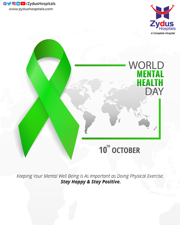 There is hope, even when your brain tells you there isn't. This World Mental Health Day, let's take a pledge to keep our body and mind healthy.  #WorldMentalHealthDay #MentalHealthDay #MentalHealth #WorldMentalHealthDay2020 #ZydusHospitals #BestHospitalinIndia #Ahmedabad #SmileofGoodHealth