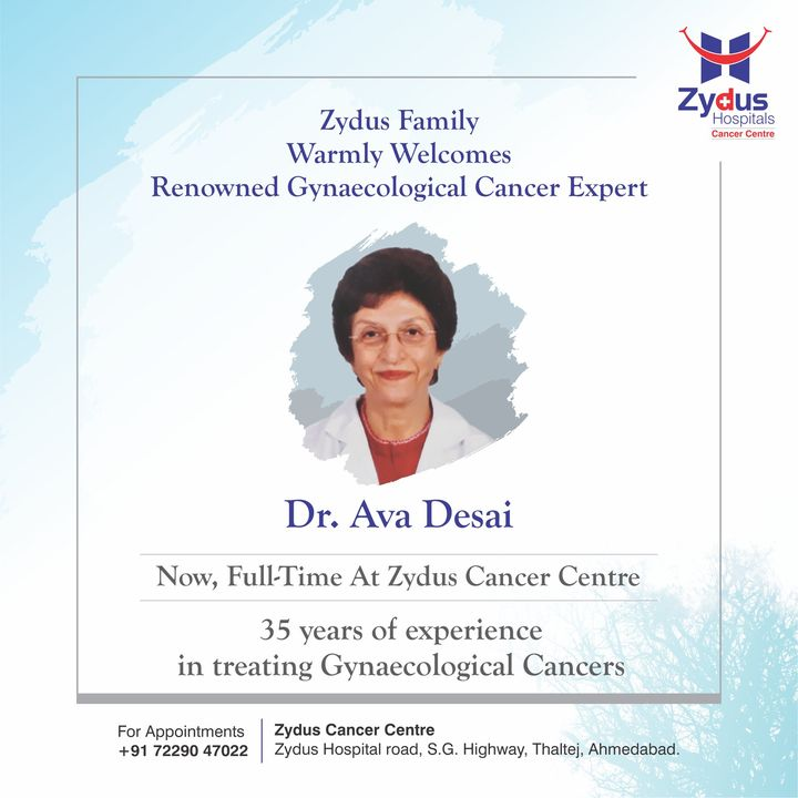 We are very pleased to welcome Gynaec-Onco Expert, Dr. Ava Desai to our Zydus Family. Dr. Ava brings with her decades of experience and a passion for medical sciences. We are surely looking forward to learn a lot from her.  #Welcome #ZydusCancerCentre #GynaecologicalCancers #BestCancerCentre #GynaecologicalCancerExpert #BestHospitalinIndia #ZydusHospitals #Ahmedabad #GoodHealth