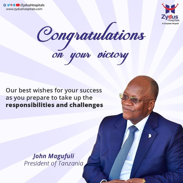 Vision of success & self-belief is the guiding light behind your achievements. Warm Wishes to Hon. John Magafuli & his party members & our Tanzanian friends  We wish you & our Tanzanian friends the best always. #tanzaniaelections2020 #TanzaniaElectionWatch #Tanzanians #johnmagafuli #presidentTanzania