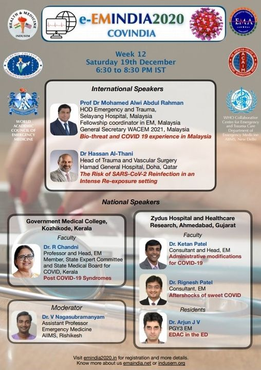 #EmergencyMedicine #TeamZydus #EmergencyDepartment participation in  THE ALL INDIA ACADEMIC EMERGENCY MEDICINE ANNUAL NATIONAL CONGRESS  #ZydusHospitals #emergencymedicine #Virtualconference