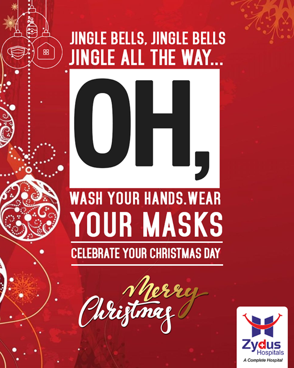 Sing the Christmas Carols and Celebrate the Festival of Joy, keeping safety in mind. Wash your hands and Wear a mask to keep the diseases aside.   Merry Christmas!  #Christmas #MerryChristmas #Christmas2020 #Festival #Cheers #Joy #Happiness #ZydusHospitals  #BestHospitalinAhmedabad #Ahmedabad #GoodHealth