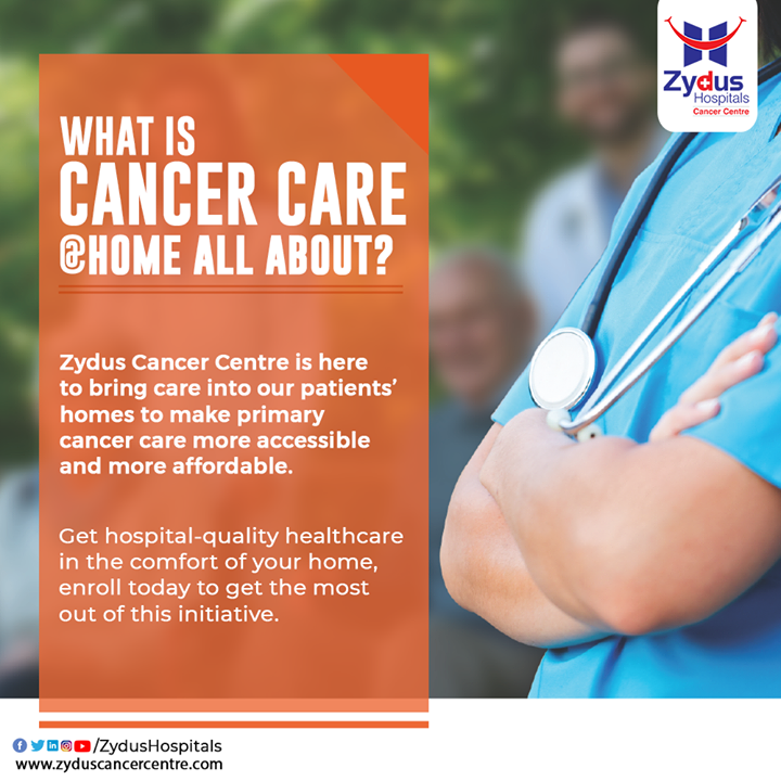 While delivering global standard care with human touch and compassion to our patients, Zydus Cancer Centre is offering #CancerCare @ Home. This initiative is designed keeping in mind need of the patients and their families, ensuring utmost care and keeping safety in mind.    #ZydusHospitals #ZydusCancerCentre #Cancer #HomeCancerCare #CancerTreatment #CancerAwareness #CancerHospital #MultiSpecialtyHospital #AhmedabadHospital #BestHospitalInAhmedabad #Ahmedabad