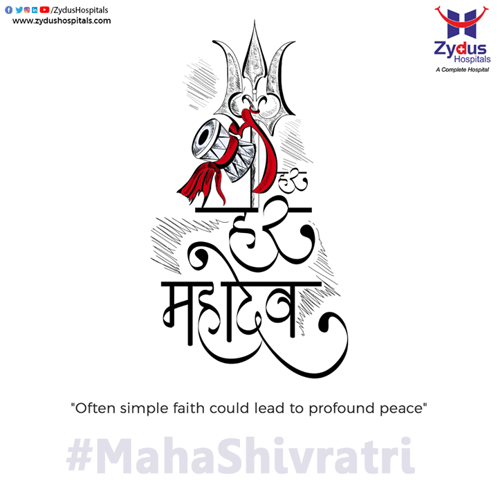 Mark your journey towards a peaceful path on this auspicious day and keep yourself healthy by meditating and adopting healthy lifestyle.   #HappyMahaShivratri #ZydusHospitals #BestHospitalinAhmedabad #Ahmedabad #GoodHealth