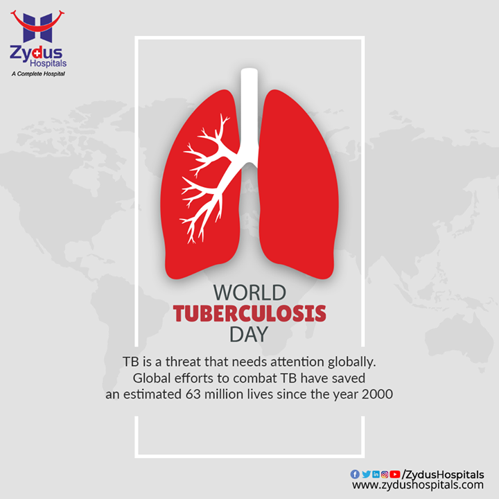 It's time to speak up, to end the stigma and to test and treat latent TB infection. On this World Tuberculosis Day, let us spread awareness that TB is preventable and curable and taking precautions will take you a long way.  #WorldTuberculosisDay #WorldTuberculosisDay2021 #Tuberculosis #TB #EndTB #ZydusHospitals #HealthCare #StayHealthy #ZydusCare #Ahmedabad #Gujarat #BestHospitalinAhmedabad
