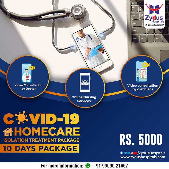 Get treated from the comfort of your home receiving the best of COVID-19 home-care treatments from the experts.  #covid #coronavirus #corona #stayhome #staysafe #stayathome #socialdistancing #quarantinelife #ZydusHomeCare #CovidHomeCare #ZydusHospitals #HealthCare #StayHealthy #ZydusCare #Ahmedabad #Gujarat #BestHospitalinAhmedabad