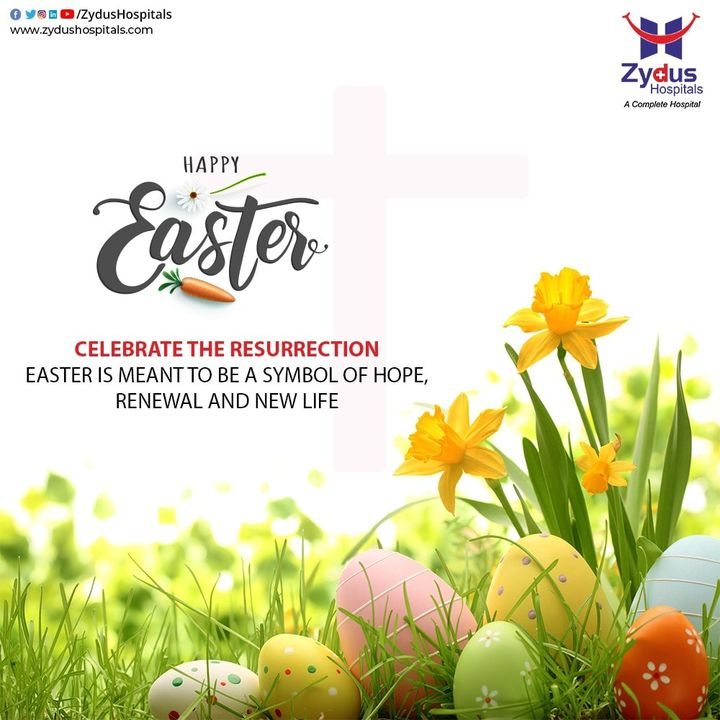 Celebrate this #Easter with a heart filled with love and peace.  #HappyEaster #ZydusHospitals #StayHome #KeepPraying #Ahmedabad #GoodHealth