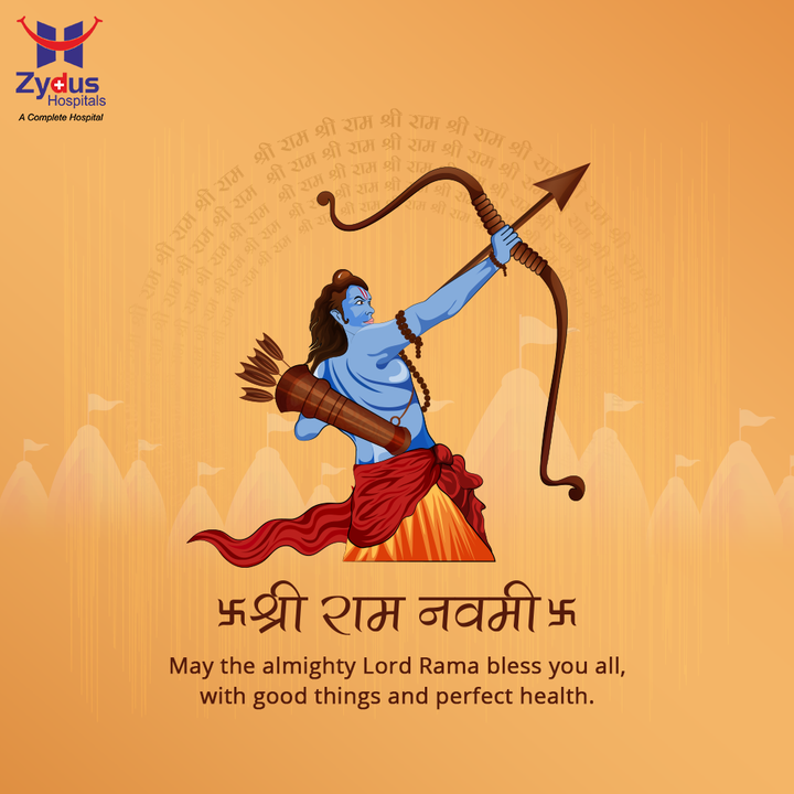 Positivity has an incredible impact on health since time immemorial!  Chant the names of the mighty Lord to embrace the positive vibes and lead a blessed life.  #HappyRamNavami #RamNavami #RamNavami2021 #AuspiciousDay #ZydusHospitals #HealthCare #StayHealthy #ZydusCare #Ahmedabad #Gujarat #BestHospitalinAhmedabad
