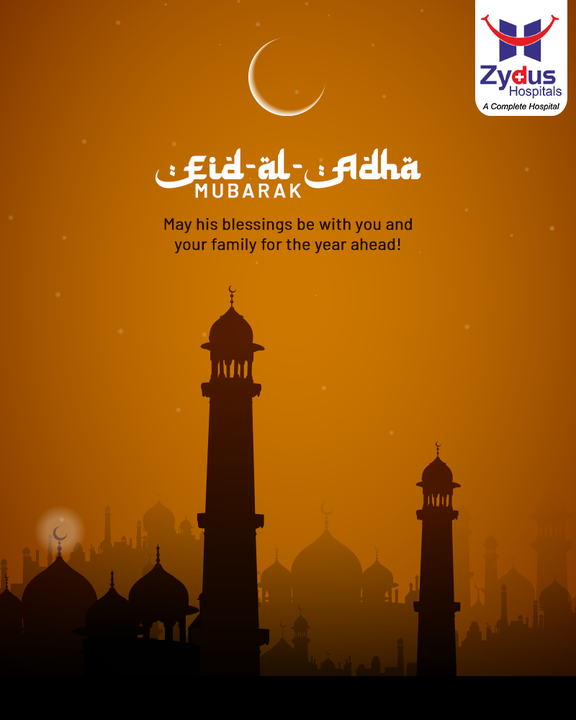 May this special day bring peace, happiness and prosperity to everyone.   #EidAlAdha2021 #EidMubarak #ZydusHospitals #ZydusCare #Ahmedabad #Gujarat #BestHospitalinAhmedabad