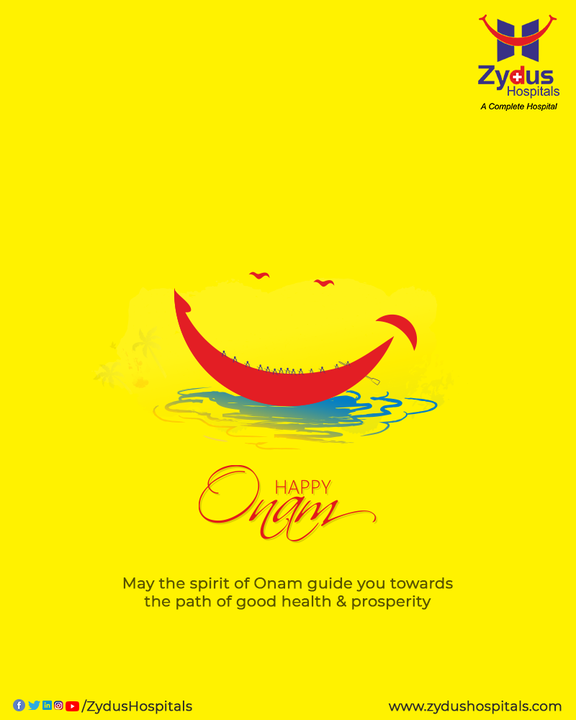 Giving, Sharing, loving and Celebrating together that's the essence of Onam. May the goodness prevail and our lives be filled with unending happiness and great health.  #HappyOnam #Onam2021 #Onam #Celebration #ZydusHospitals #HealthCare #StayHealthy #ZydusCare #BestHospitalinAhmedabad #Ahmedabad #GoodHealth