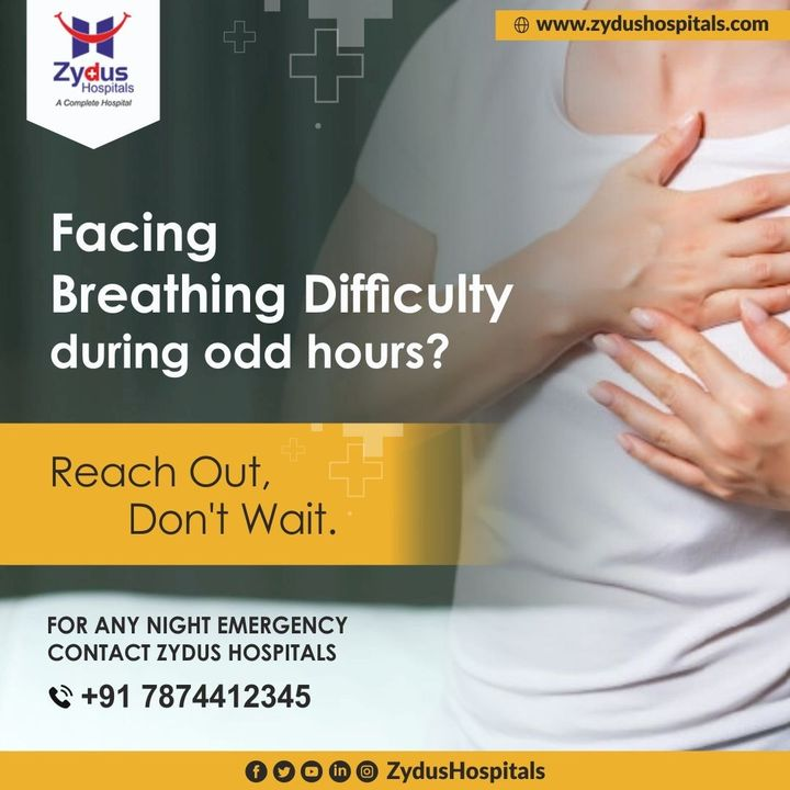 Respiratory Emergencies can be lethal if not attended promptly.  Zydus Hospitals offers a robust 24x7 Emergency Department with super skilled doctors who will take care of your emergency needs of a checkup or a trauma or severe illnesses. You can connect with us for any emergency medical or surgical needs.  Call: +91 78744 12345  #ZydusHospitals #Emergency #EmergencyDoctor #HealthCheckup #HealthCare #StayHealthy #ZydusCare #Ahmedabad #Gujarat #BestHospitalinAhmedabad