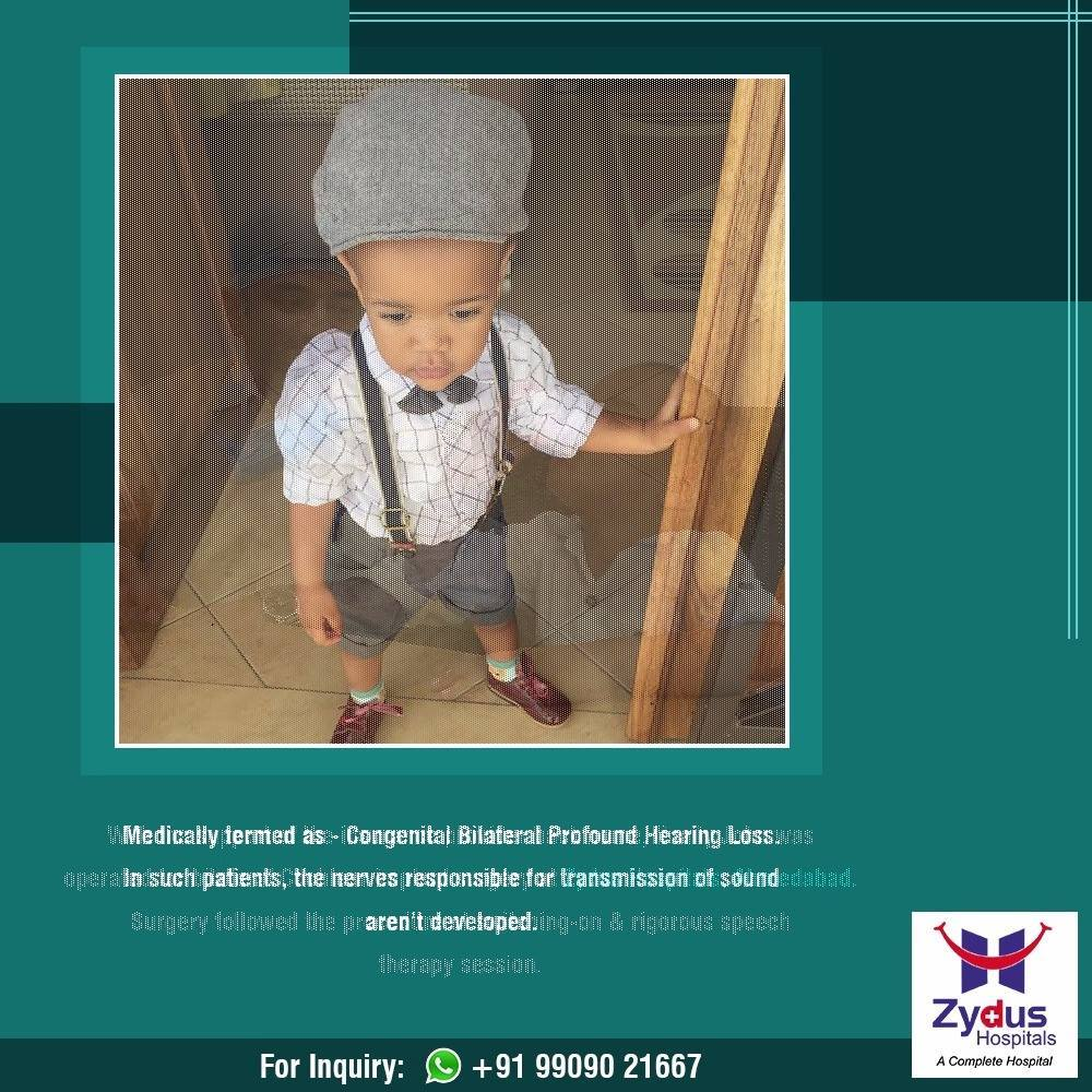 Master John Sabuni wasn't able to hear anything before his #CochlearImplantation surgery.  He was suffering from Congenital Bilateral Profound Hearing Loss.   #ZydusHospitals #StayHealthy #Ahmedabad #GoodHealth