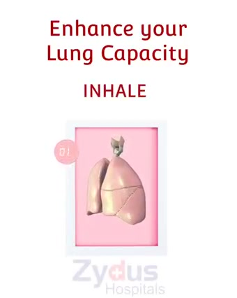 Exercise is the key to enhance your lungs capacity!  While the video plays maintain patience, forget about the existence of skip button & Inhale - Hold - Exhale   Such exercises can take you a long way in improving health of your lungs.  #Breathing #ZydusHospitals #HealthCare #StayHealthy #ZydusCare #Ahmedabad #Gujarat #Hospital #Health #BestHospitalinAhmedabad