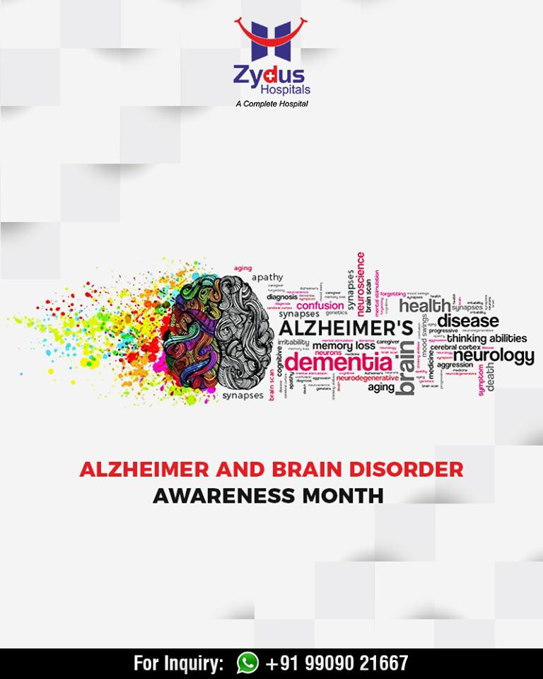 June is Alzheimer & Brain Disorder Awareness Month.  #AlzheimerAndBrainDisorderAwarenessMonth #Alzheimer #BrainDisorder #ZydusHospitals #StayHealthy #Ahmedabad #GoodHealth https://t.co/aSleCFUblS