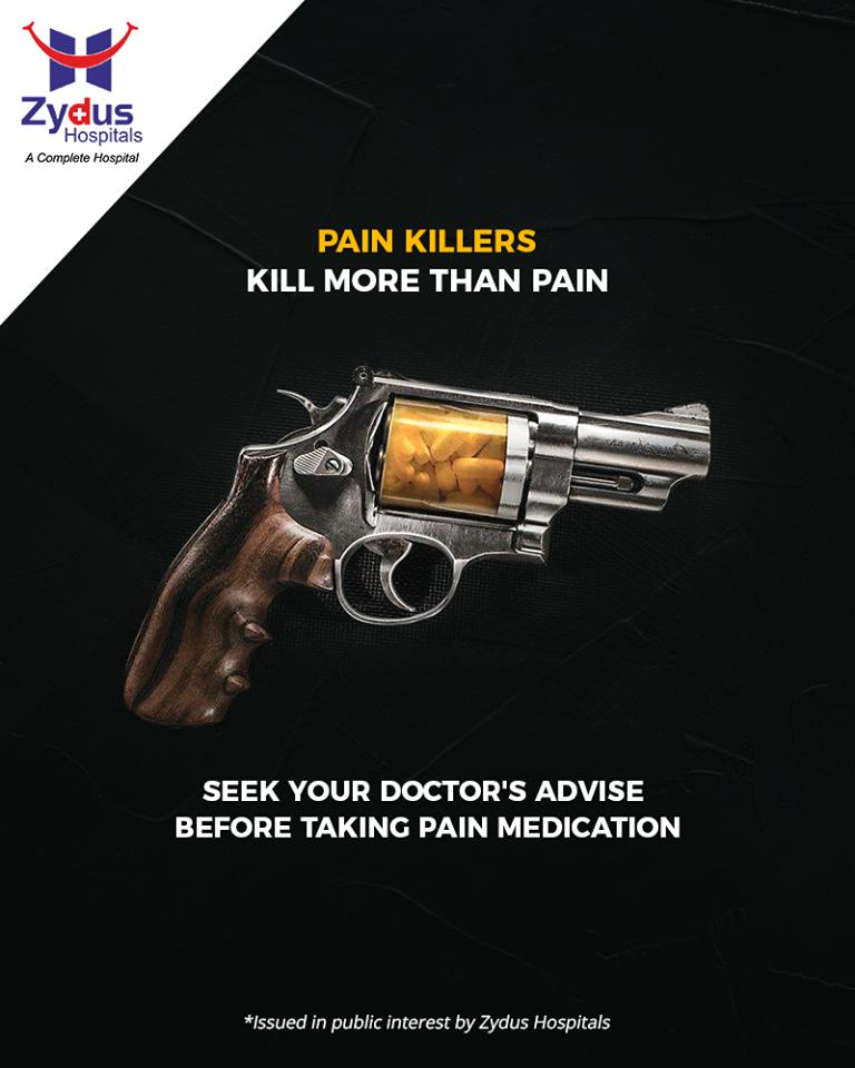 Are you surviving on pain killers? They kill more than pain & harm your body! Readmore: https://t.co/90UfmaIVeM  #ZydusHospitals #StayHealthy #Ahmedabad #NoSelfTreatment #GuidedMedication #GoodHealth #ZydusCares #PainKillers #DidYouKnow https://t.co/Em4npYmsq2