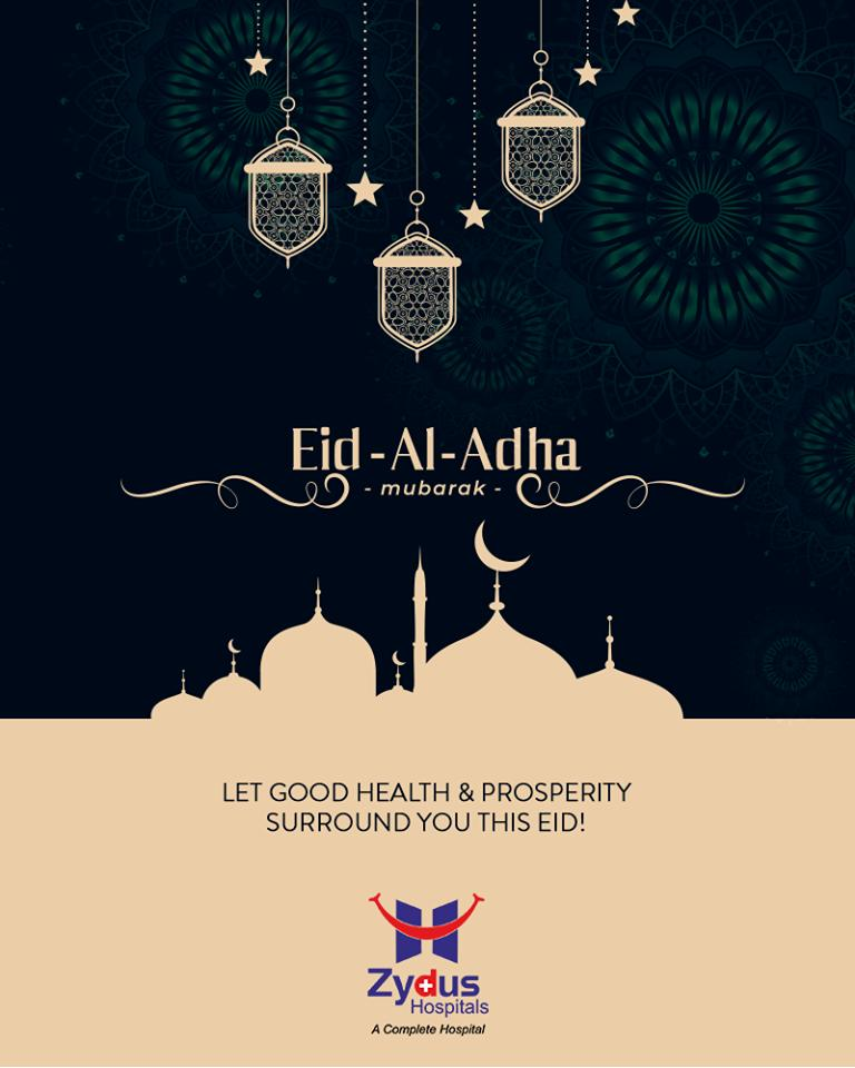 Let good health & prosperity surround you this EID!  #EidMubarak #EidAlAdha #ZydusHospitals #StayHealthy #Ahmedabad #GoodHealth #ZydusCares https://t.co/KFjzJk9kSI